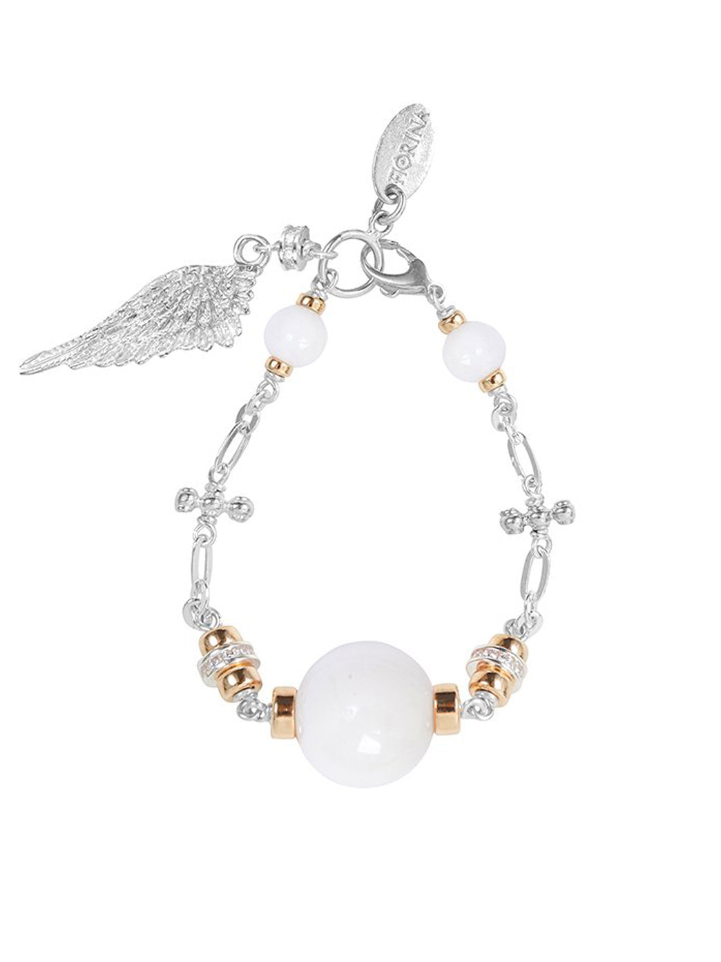 Fiorina Jewellery Cathedral Bracelet White