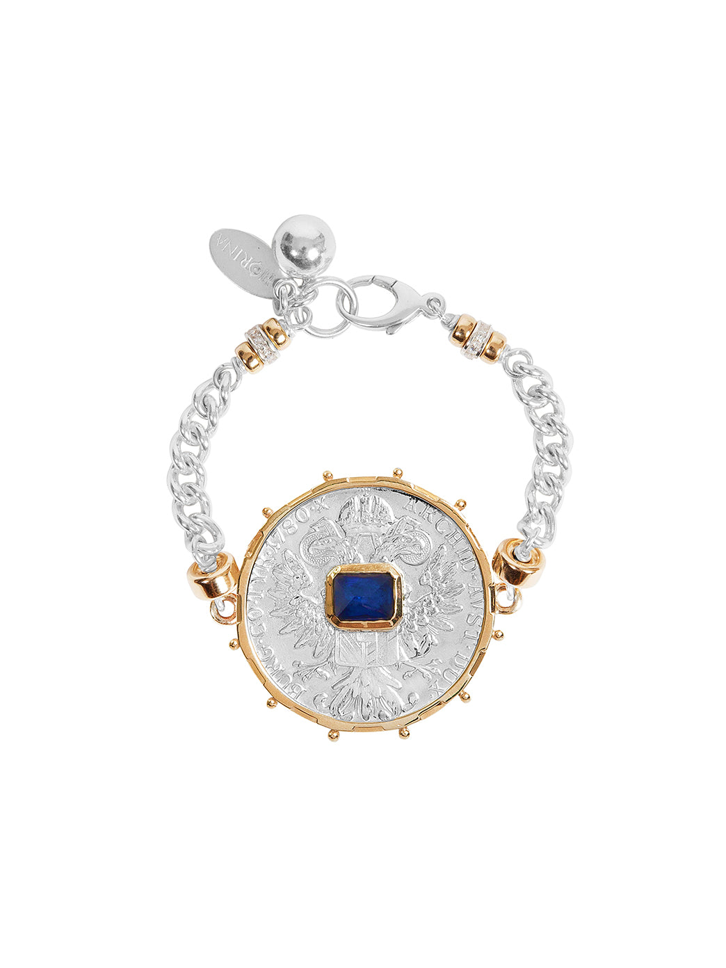 Fiorina Jewellery Monster Jewel Gem Bracelet Blue Sapphire and Yellow Gold