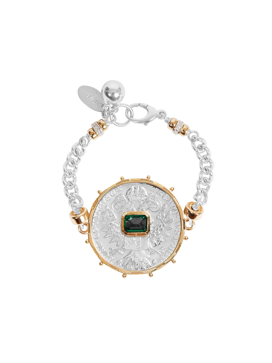 Fiorina Jewellery Monster Jewel Gem Bracelet Emerald and Yellow Gold