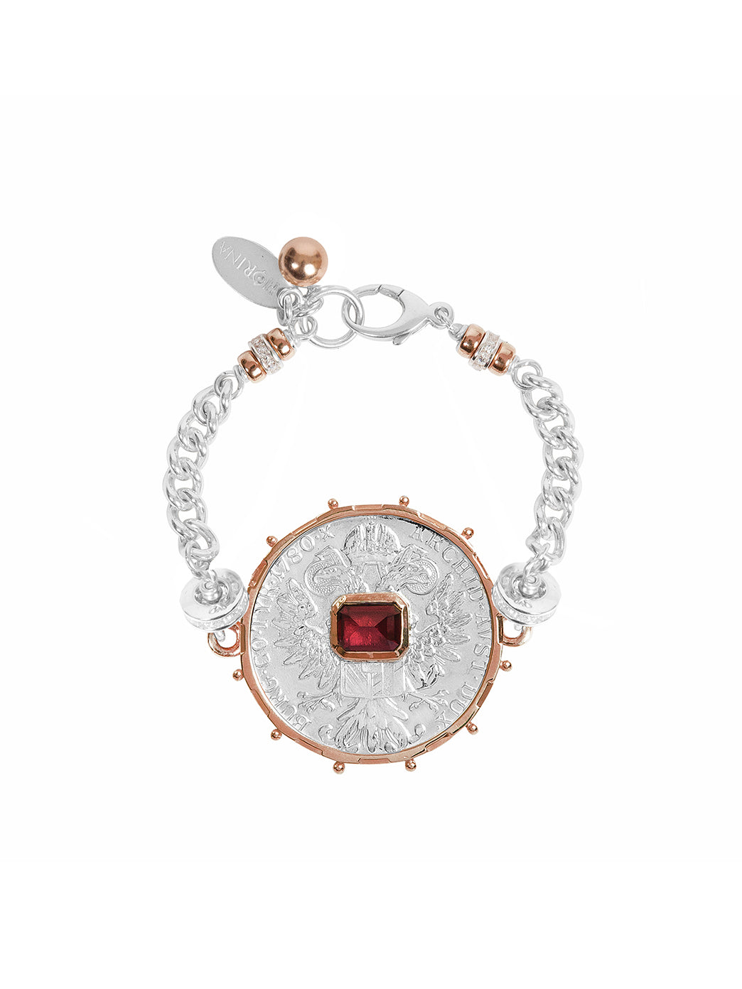 Fiorina Jewellery Monster Jewel Gem Bracelet Ruby Rose Gold