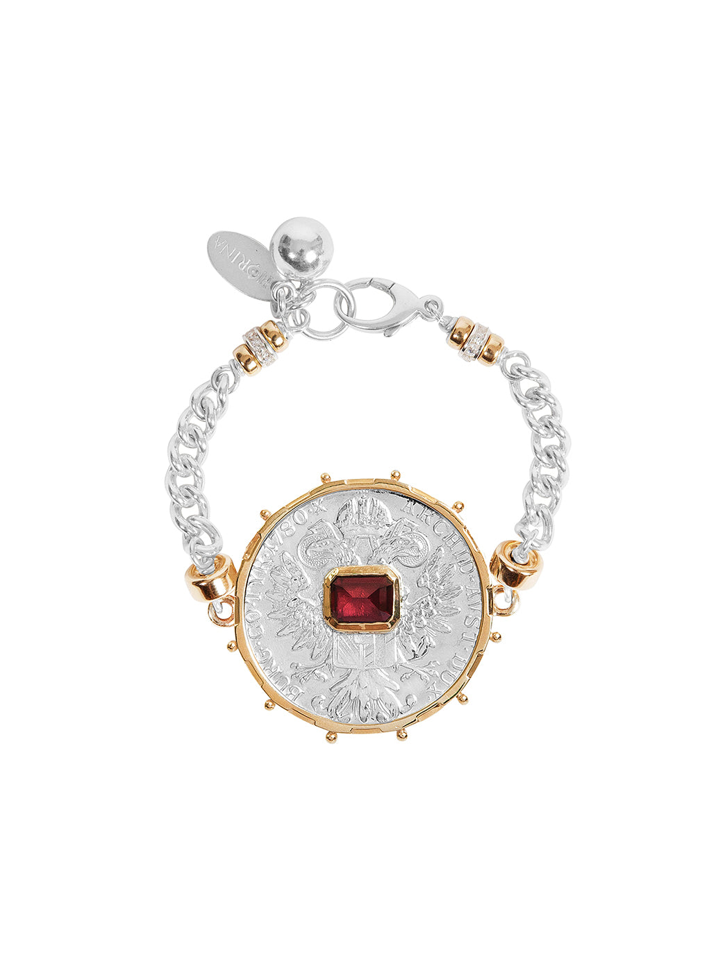 Fiorina Jewellery Monster Jewel Gem Bracelet Ruby Yellow Gold