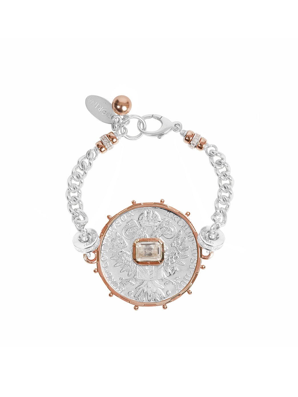 Fiorina Jewellery Monster Jewel Bracelet White Sapphire and Rose Gold