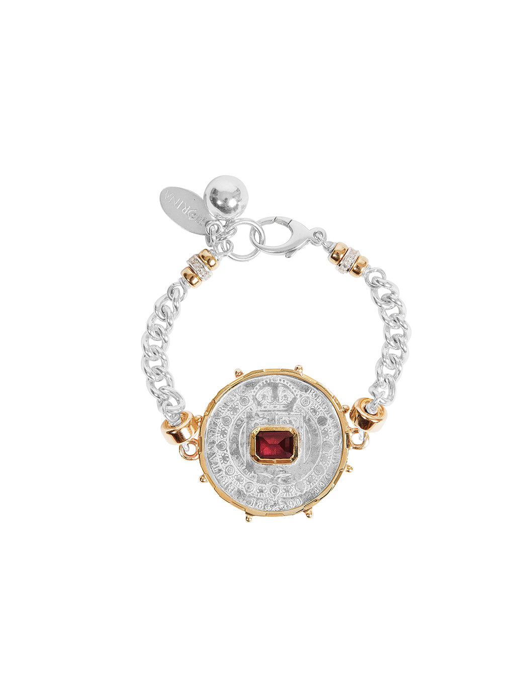Fiorina Jewellery Medium Jewel Gem Bracelet Ruby