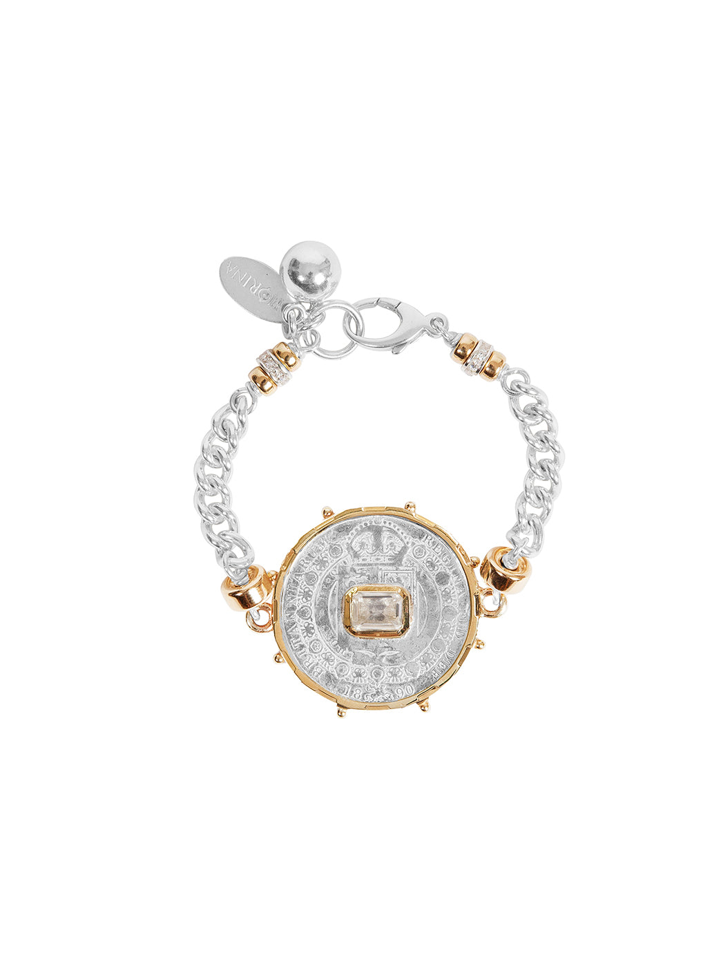 Fiorina Jewellery Medium Jewel Gem Bracelet White Sapphire
