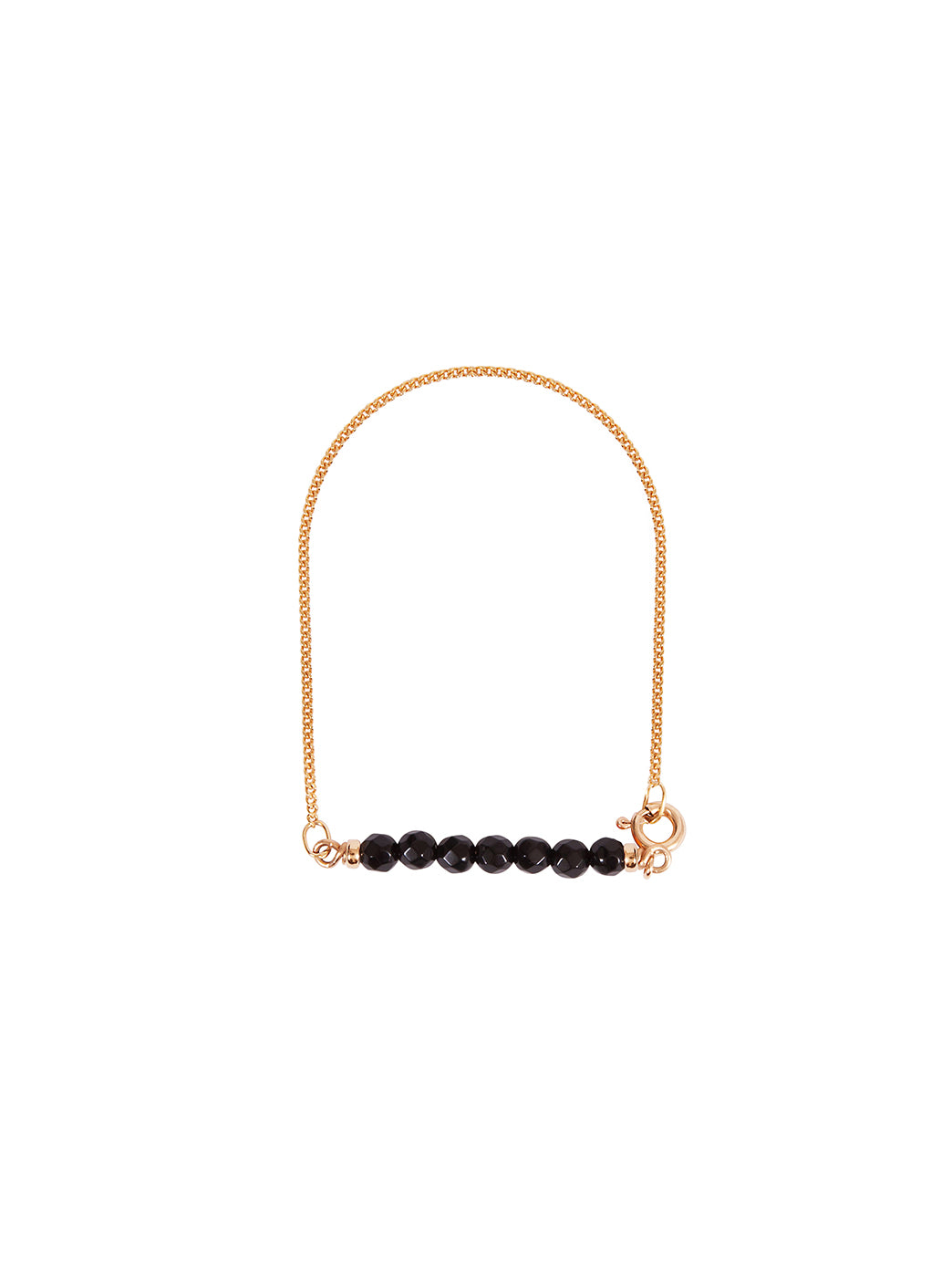 Fiorina Jewellery Gold Friendship Bracelet Black Onyx