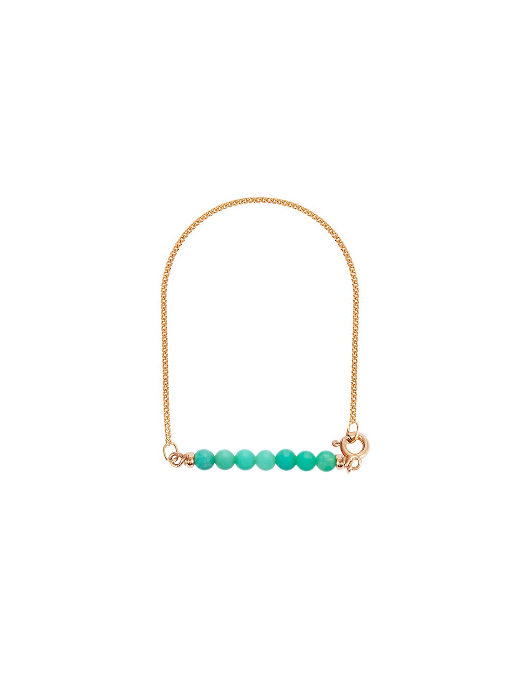 Fiorina Jewellery Gold Friendship Bracelet Chrysoprase