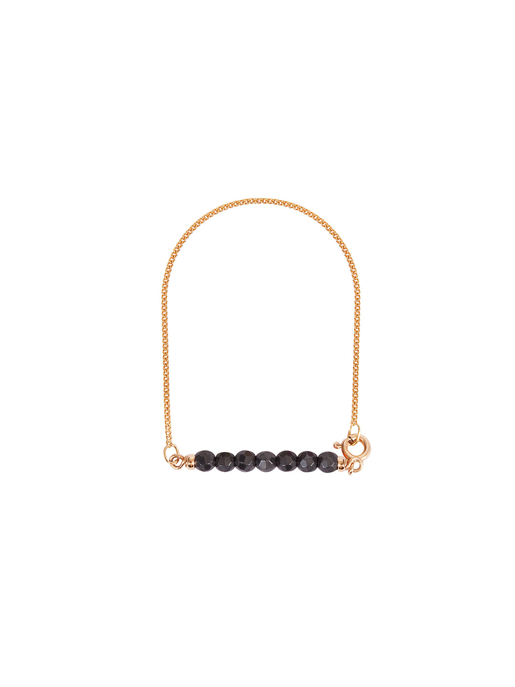 Fiorina Jewellery Gold Friendship Bracelet Hematite