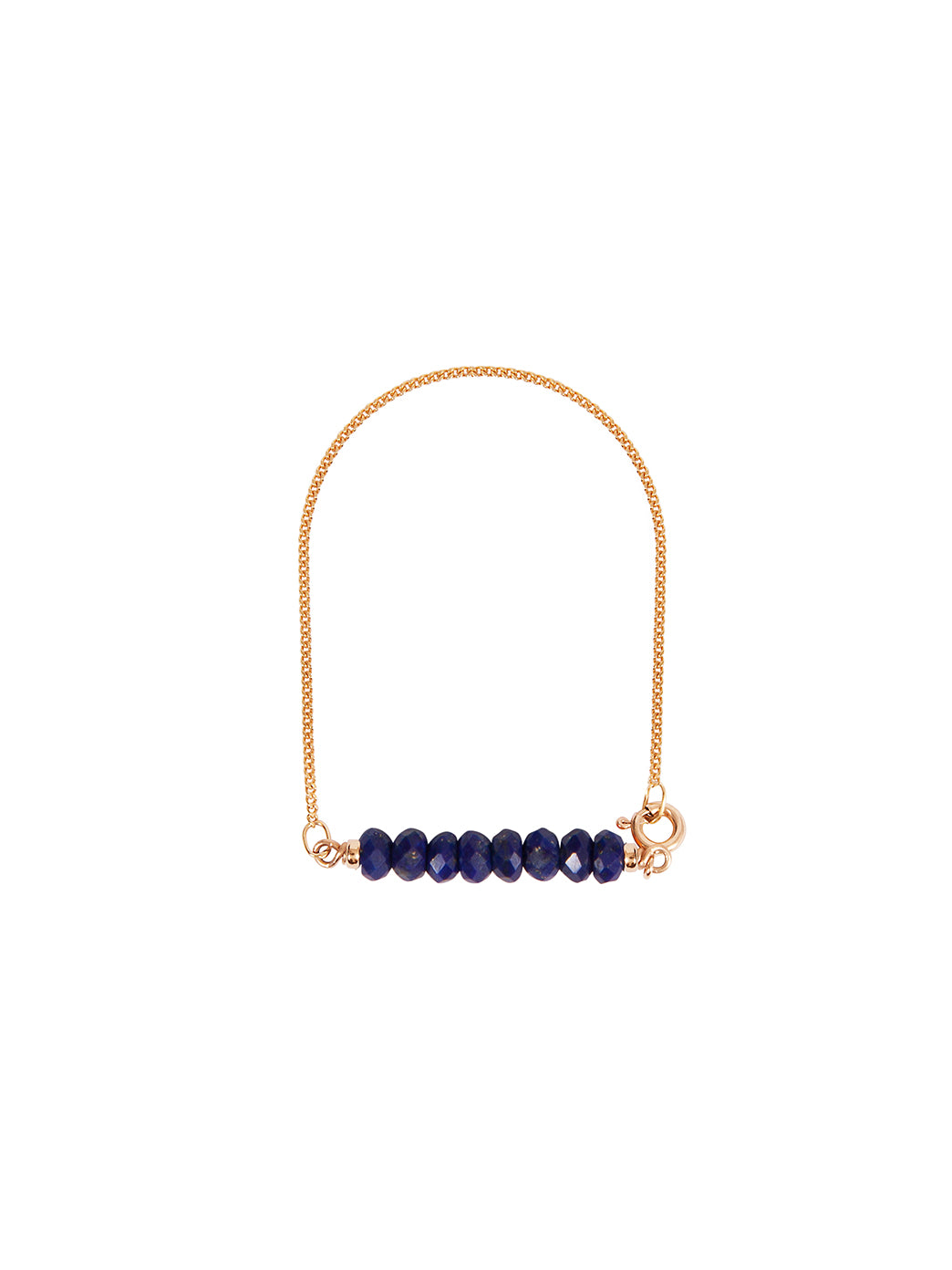 Fiorina Jewellery Gold Friendship Bracelet Lapis Faceted