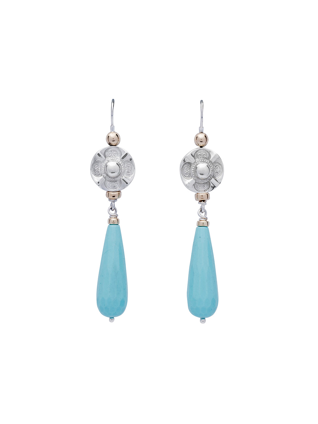 Fiorina Jewellery Deco Drop Earrings Turquoise
