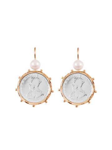 Silver Encased 3p Coin Earrings
