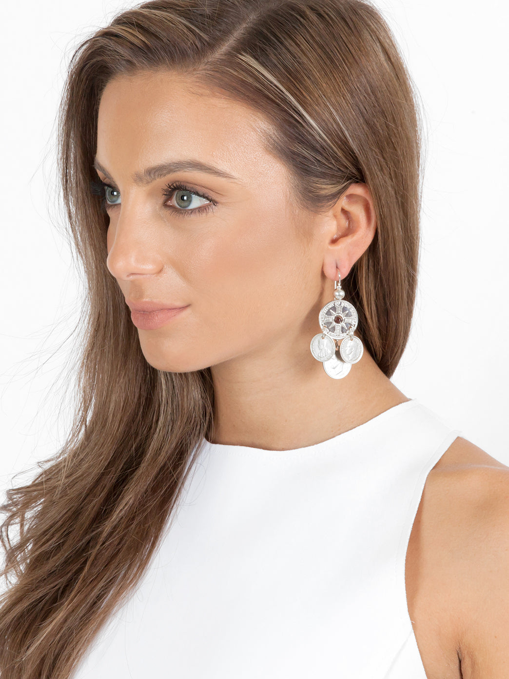 Fiorina Jewellery Gypsy Coin Earrings Model