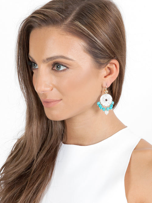 Fiorina Jewellery Happy Earrings Turquoise Model