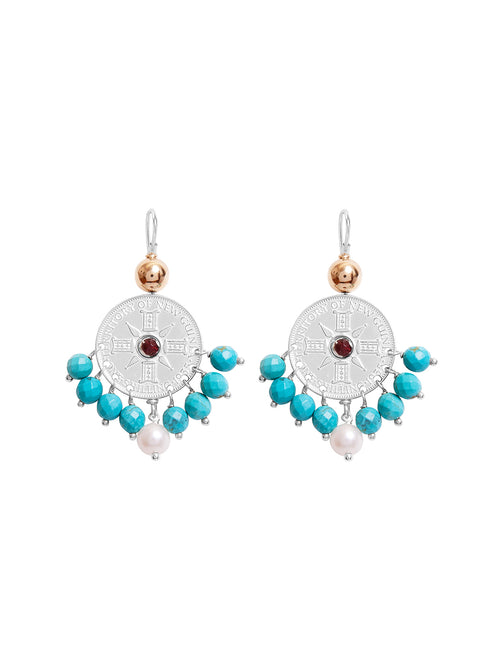 Fiorina Jewellery Happy Earrings Turquoise