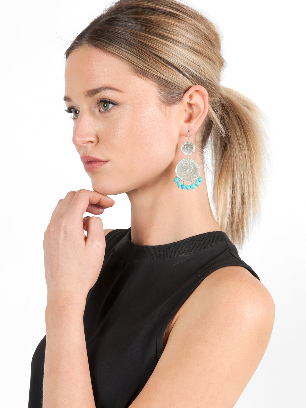 Fiorina Jewellery Mini Marrakesh Earrings Turquoise Model
