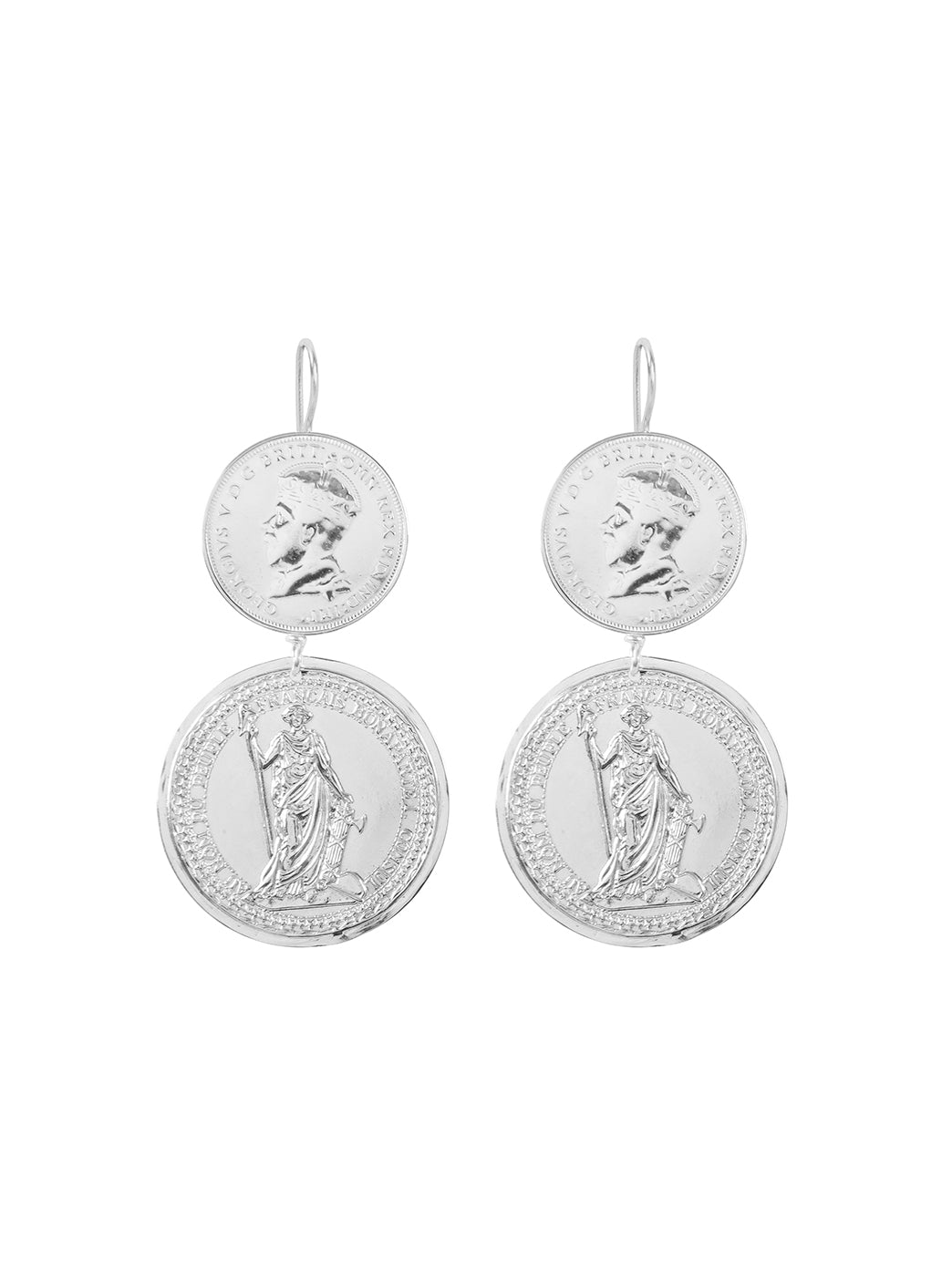 Fiorina Jewellery Monster Double Coin Earrings