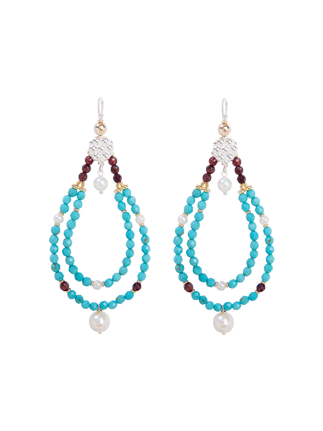 Fiorina Jewellery Rahini Earrings Turquoise