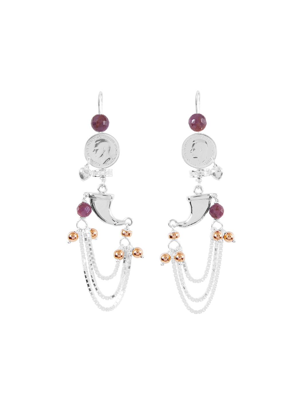 Fiorina Jewellery Raj Claw Ruby Earrings