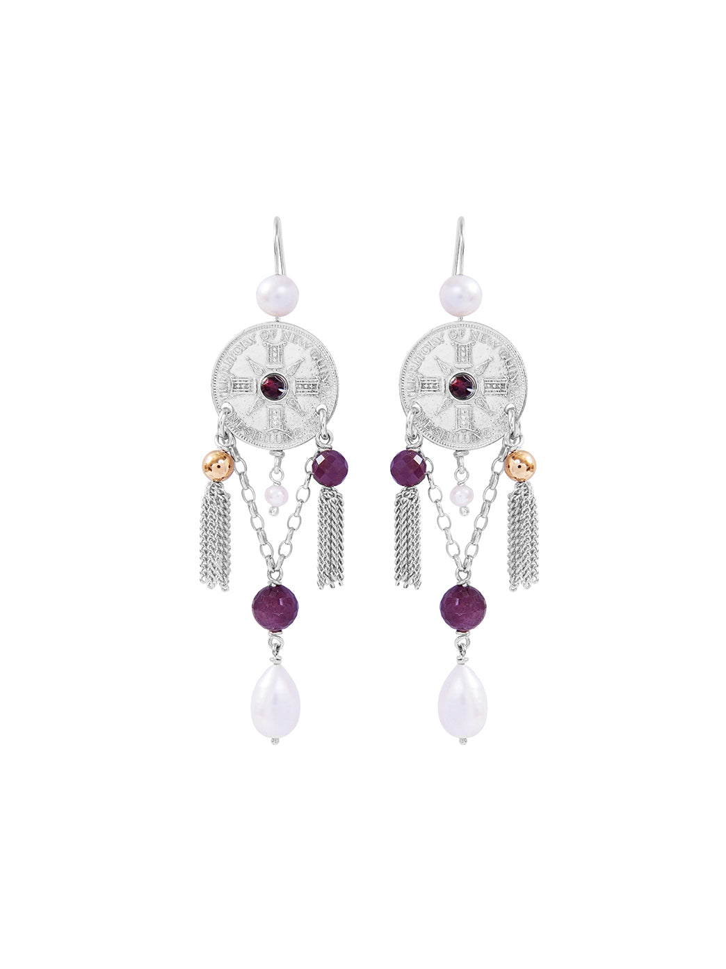 Fiorina Jewellery Raj Princess Earrings Ruby