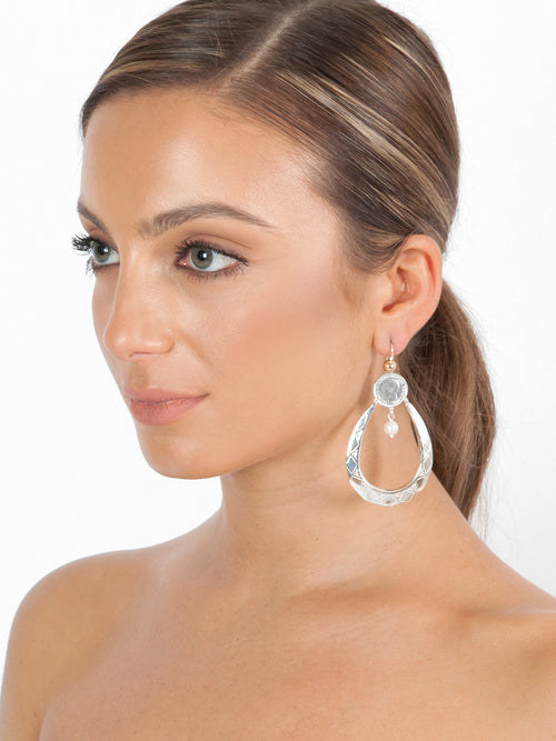 Fiorina Jewellery Sugar Drop Earrings Pearl Model