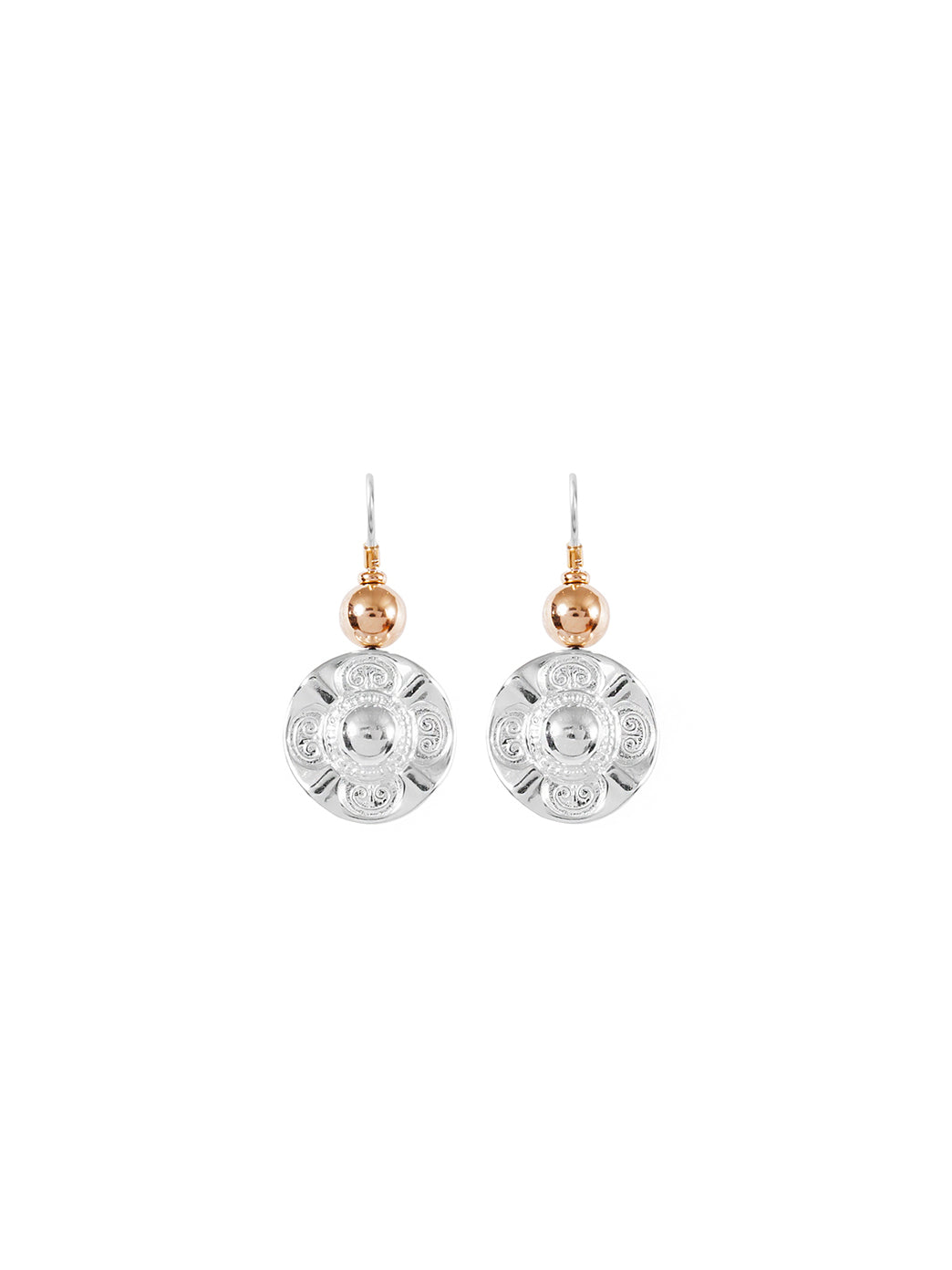 Fiorina Jewellery Simple Vic Disc Earrings Gold