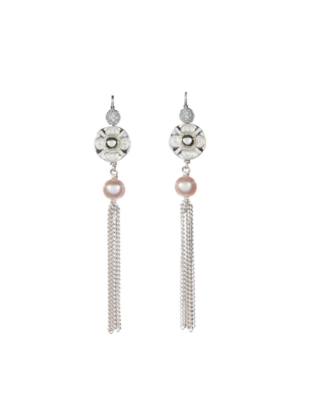 Fiorina Jewellery Vic Disc Tassel Earrings
