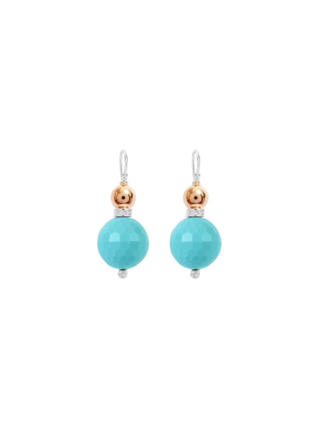 Fiorina Jewellery Double Ball Earrings Turquoise