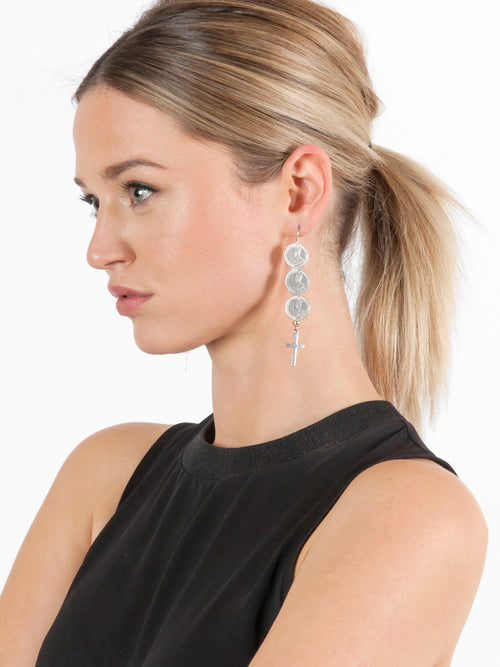 Fiorina Jewellery Andes Earrings Cross Model