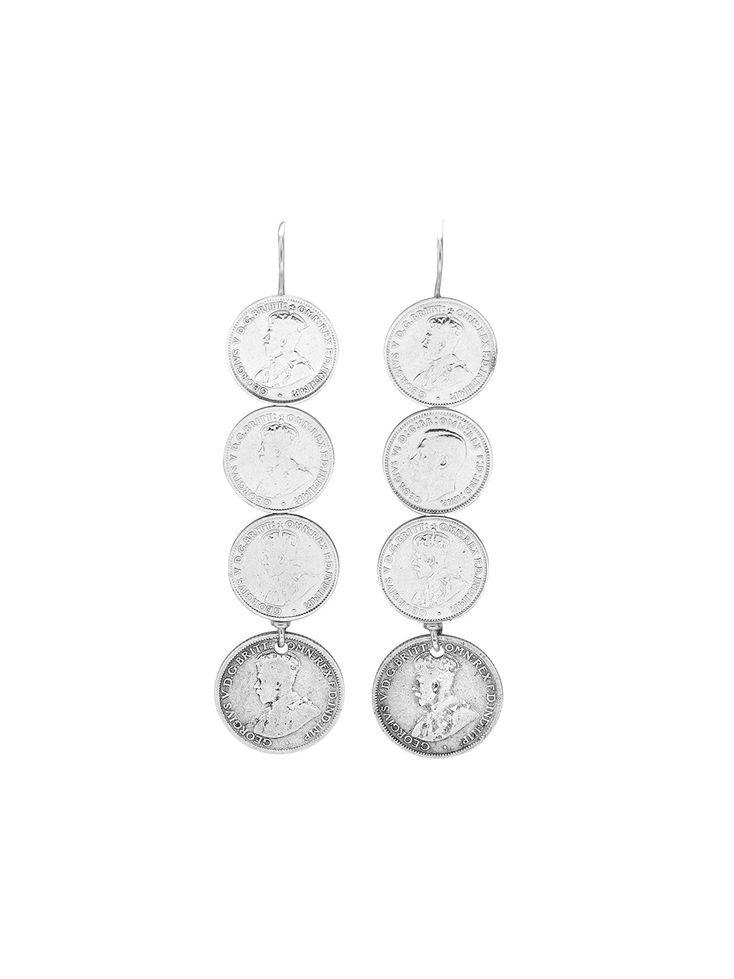 Fiorina Jewellery Andes Earrings 6P Coin