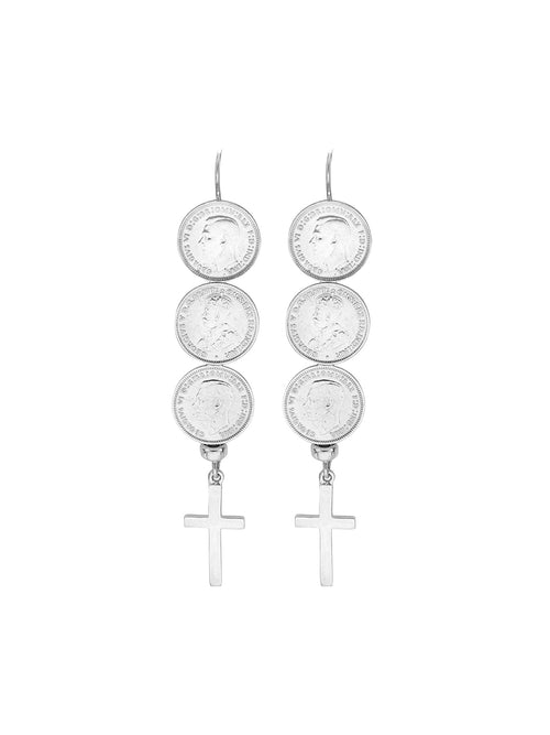 Fiorina Jewellery Andes Earrings Cross