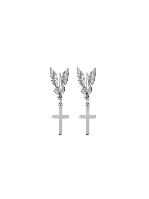Fiorina Jewellery Messenger Earrings Cross