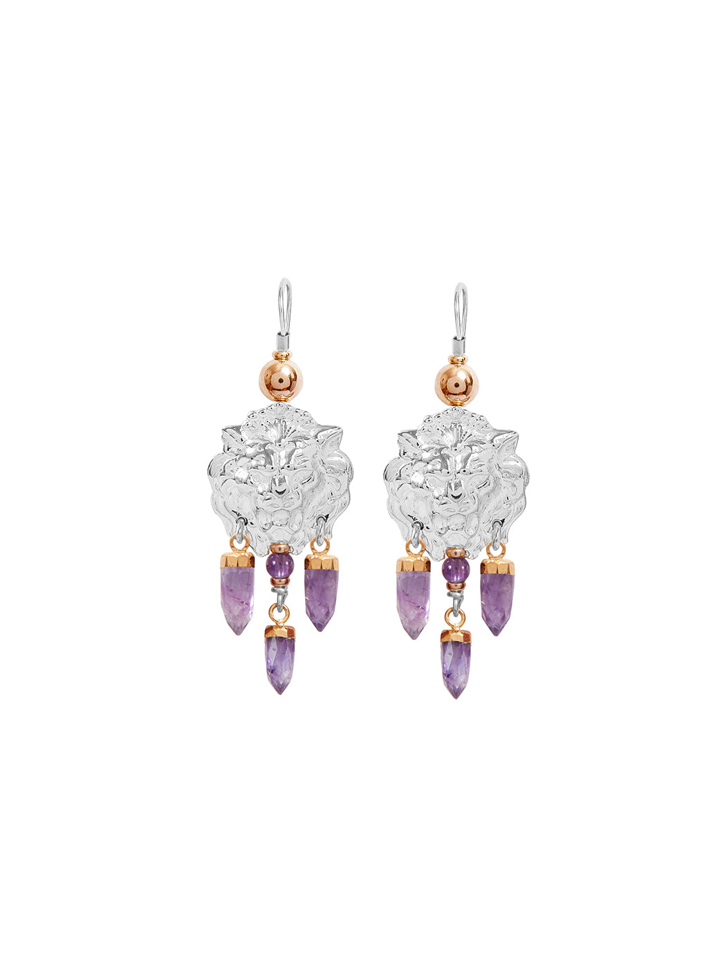 Fiorina Jewellery Taormina Earrings Amethyst