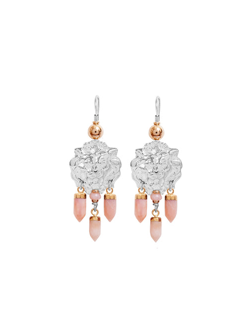 Fiorina Jewellery Taormina Earrings Pink Opal