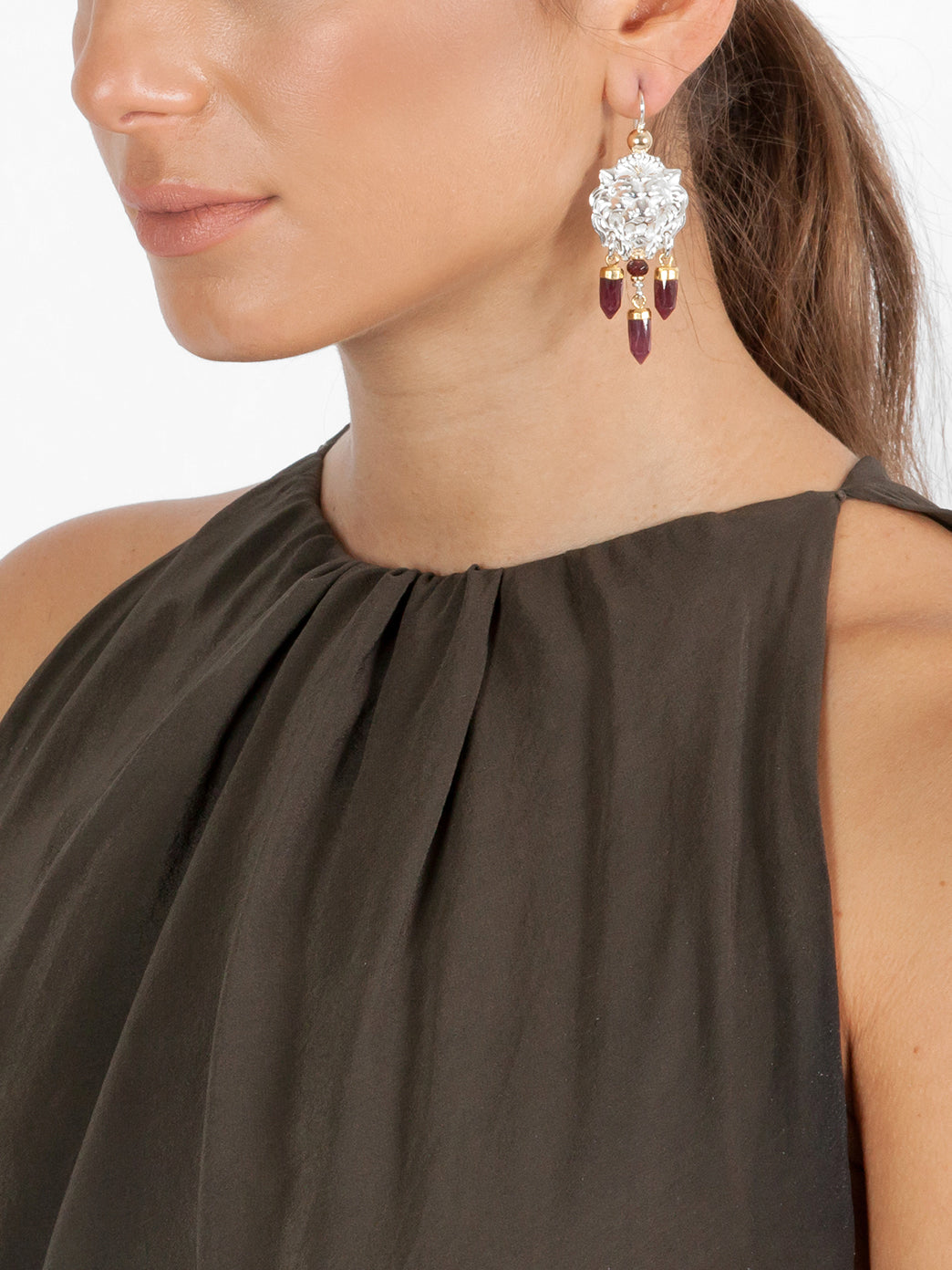 Fiorina Jewellery Taormina Earrings Garnet Model