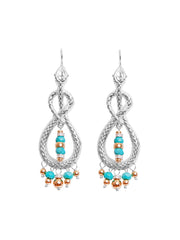 Fiorina Jewellery Serpente Earrings Turquoise & Gold