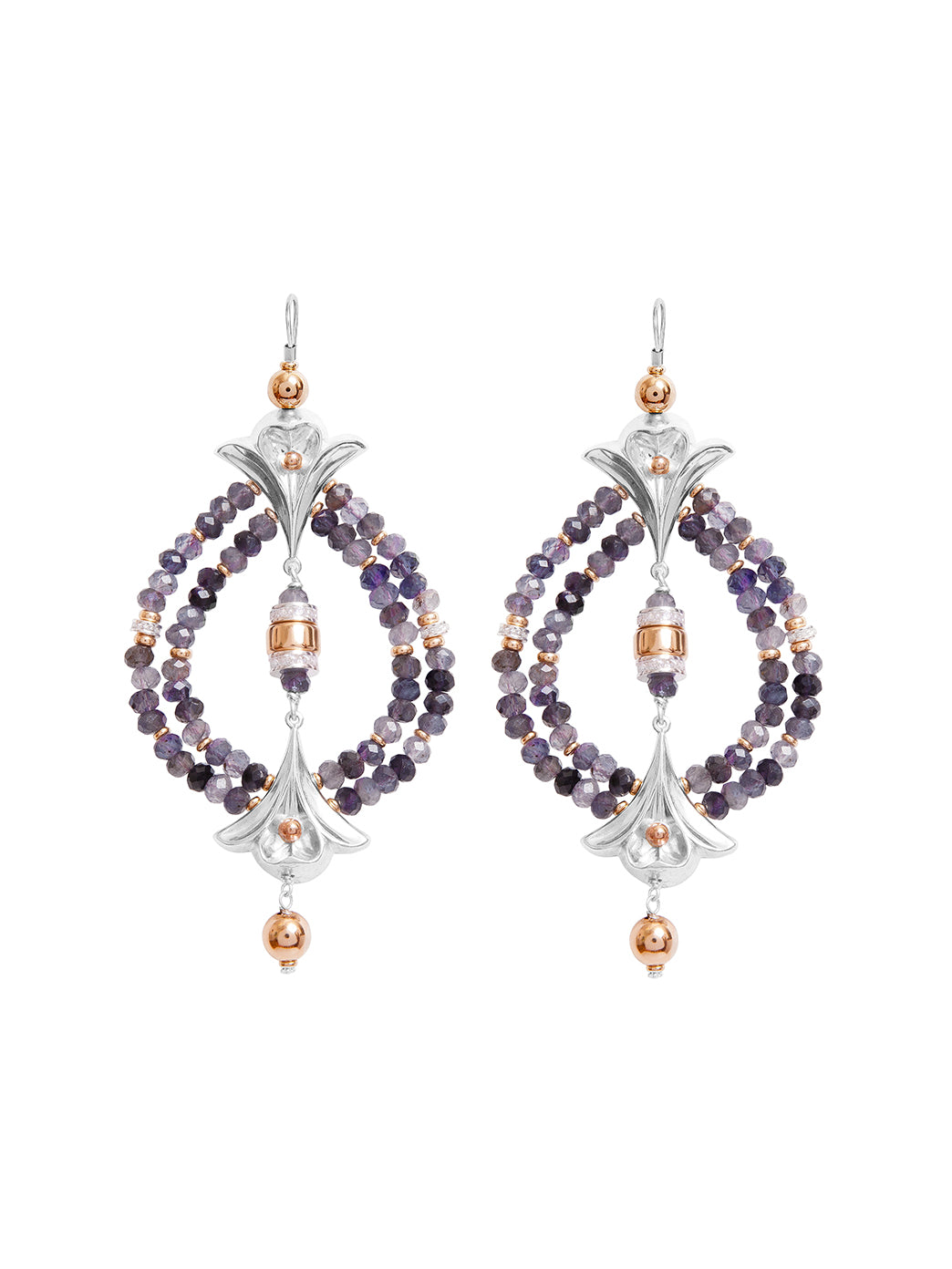 Fiorina Jewellery Lumiere Earrings Lolite
