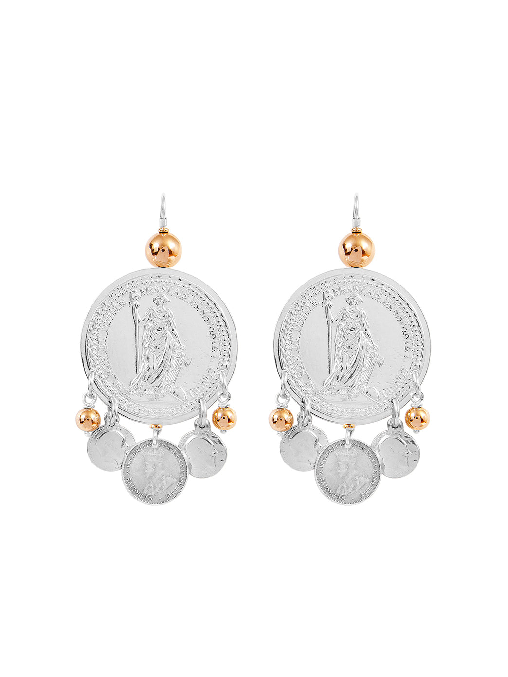 Fiorina Jewellery Monster Gypsy Coin Earrings