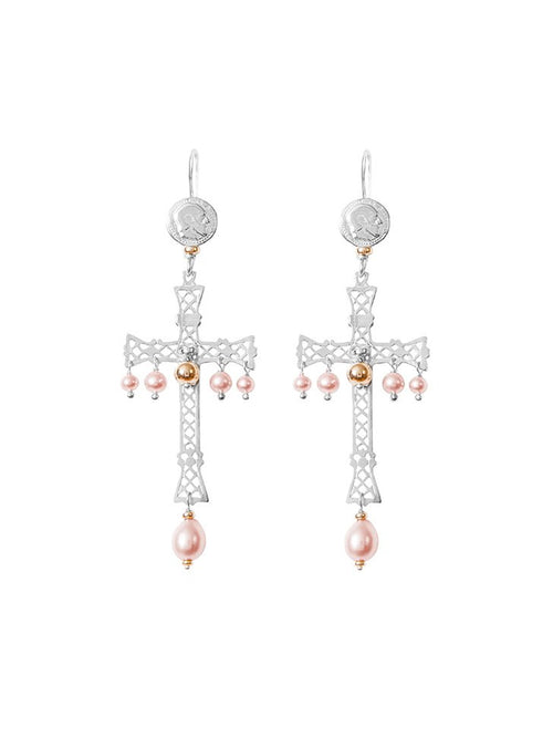 Fiorina Jewellery Lacroix Earrings Pink Pearl