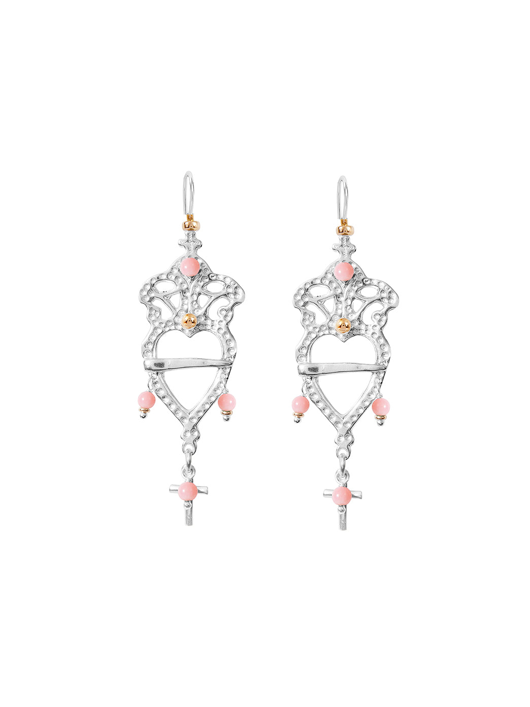 Fiorina Jewellery Heartlore Earrings Pink Opal