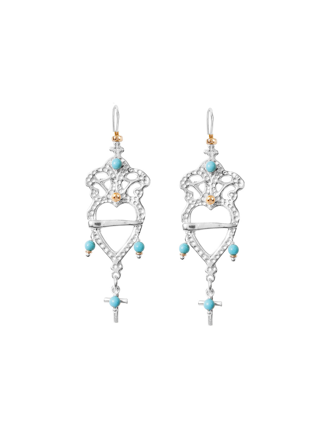 Fiorina Jewellery Heartlore Earrings Turquoise