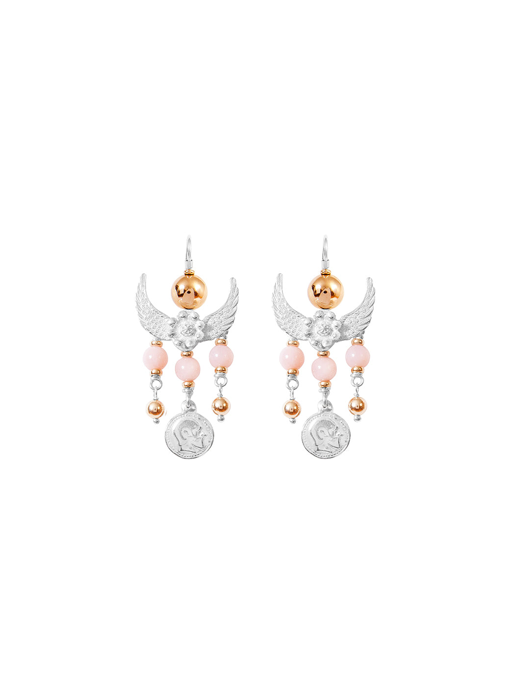 Fiorina Jewellery Gypset Earrings Pink Opal