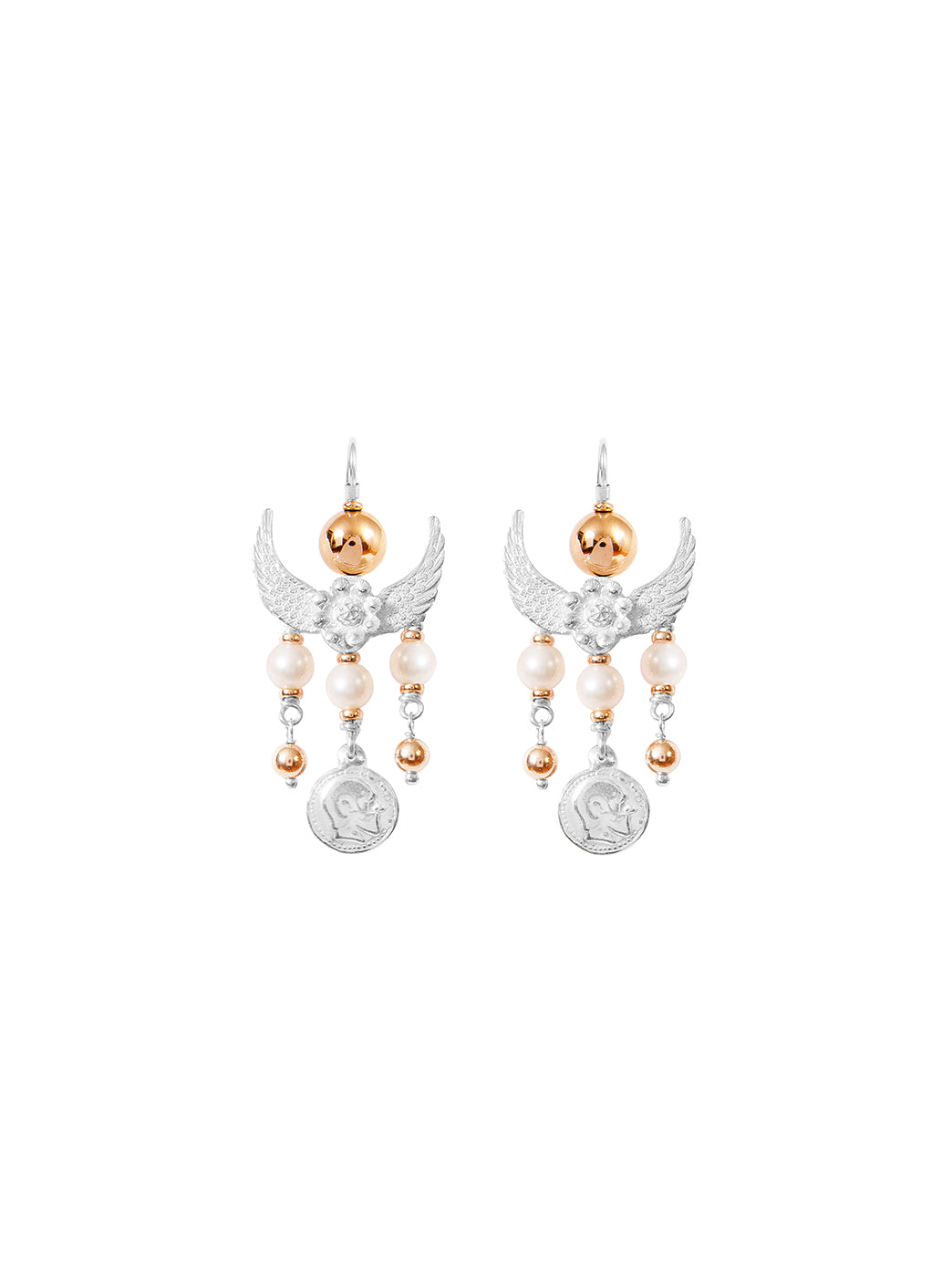 Fiorina Jewellery Gypset Earrings White Pearl