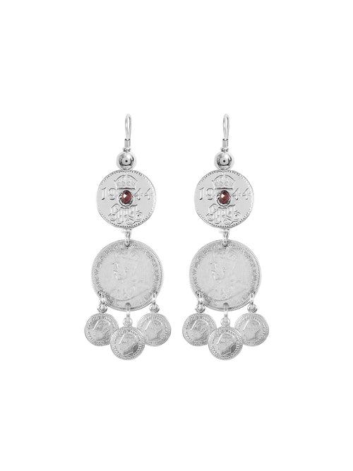 Fiorina Jewellery Joy Gypsy Earrings Garnet Highlight