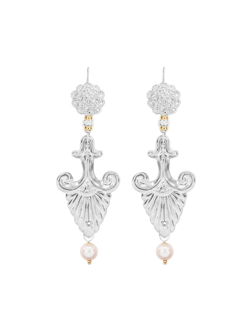 Fiorina Jewellery Silver Noto earrings Pink Pearl Highlights