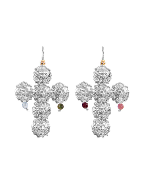 Fiorina Jewellery Trevi Cross Earrings