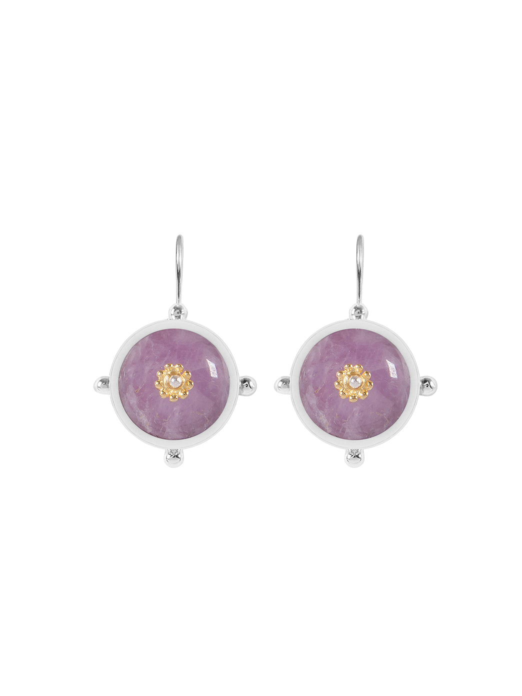 Fiorina Jewellery Button Earrings Kunzite