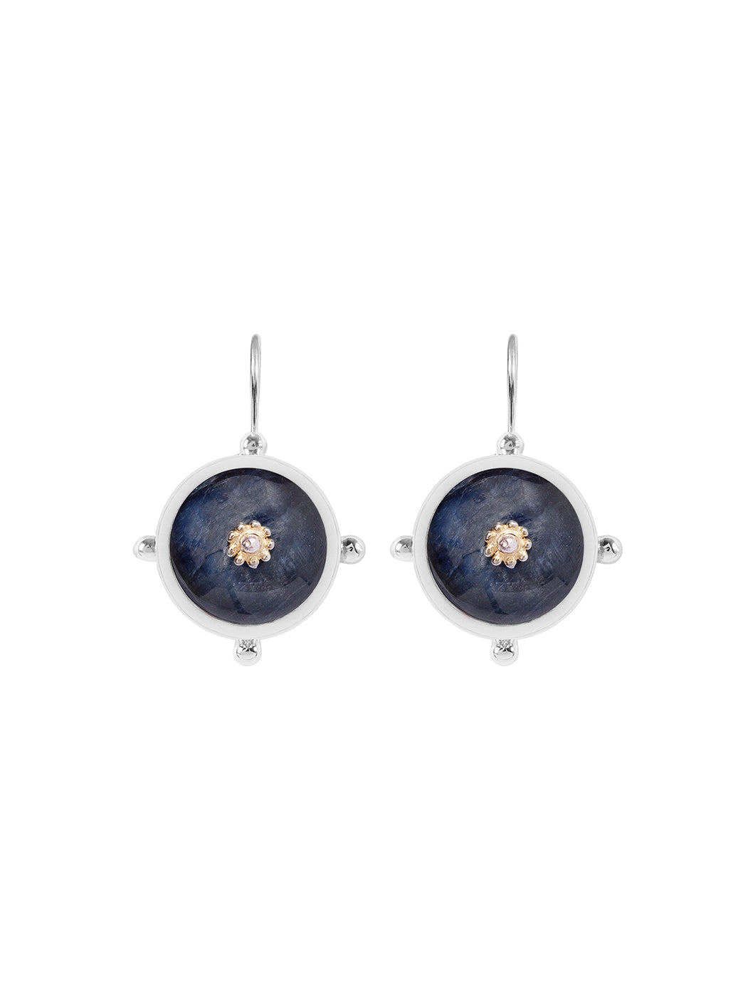 Fiorina Jewellery Button Earrings Kyanite