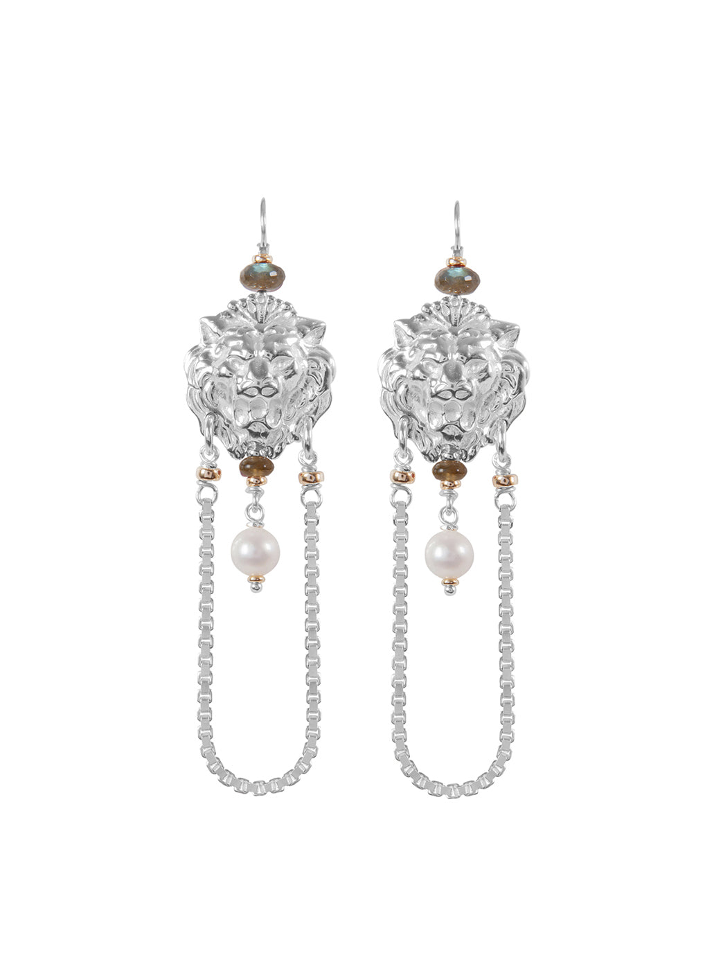 Fiorina Jewellery Trevi Chain Earrings Labradorite