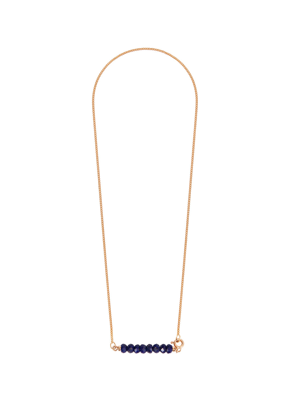 Fiorina Jewellery Gold Friendship Necklace Lapis faceted