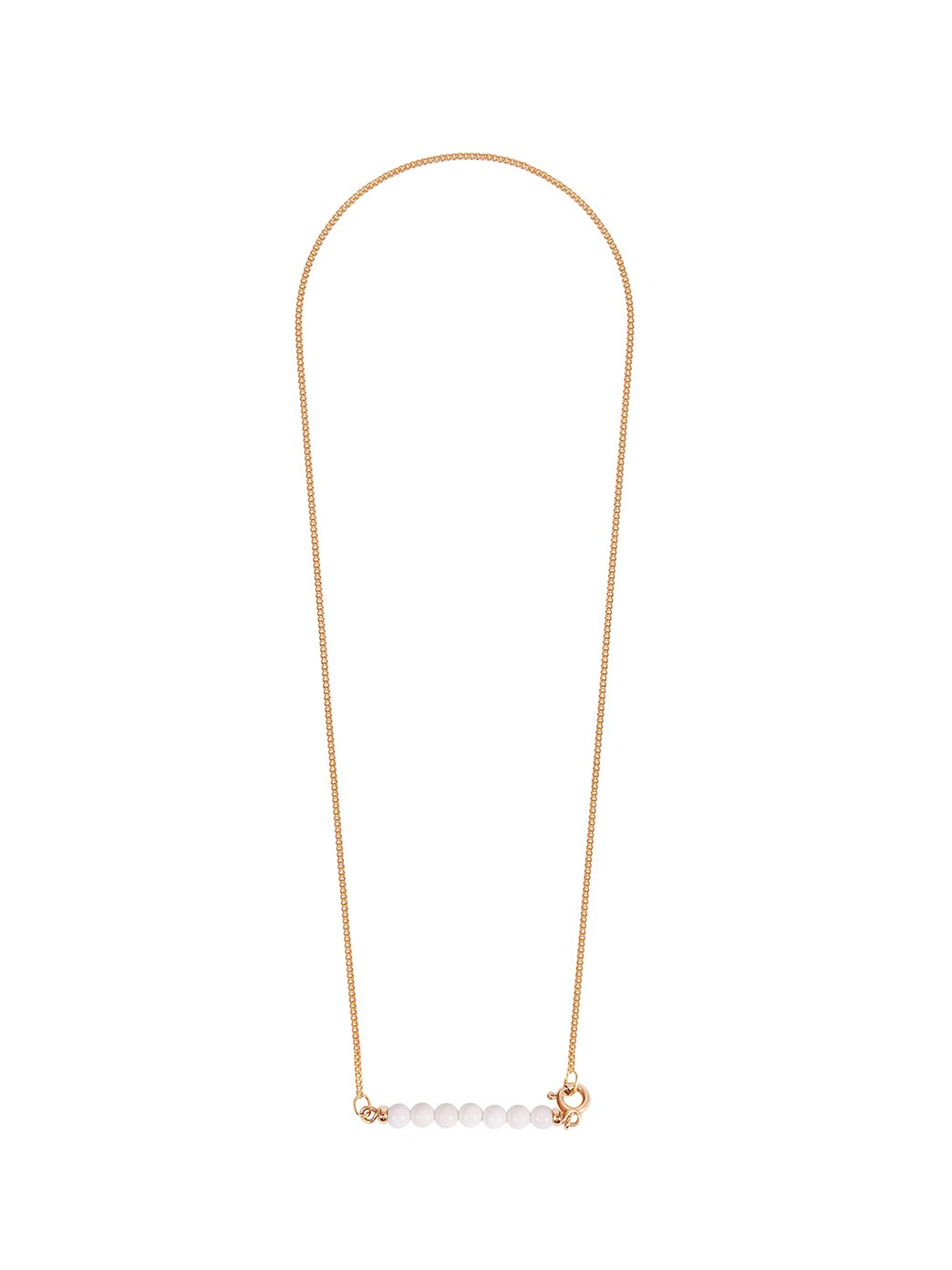 Fiorina Jewellery Gold Friendship Necklace White