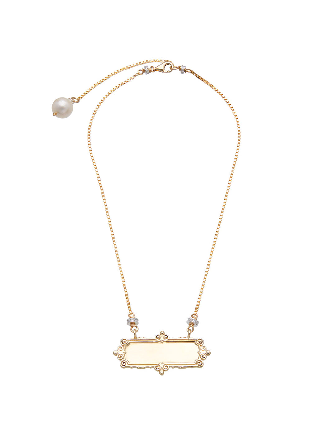 Fiorina Jewellery Gold Scroll Necklace